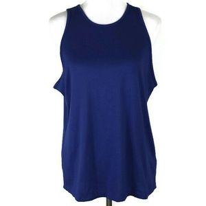 Nike Womens Shirt Size Large Blue Sleeveless